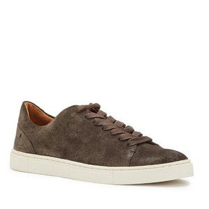 Frye Ivy Low Lace Sneakers Suede Gray Size 6.5 NEW